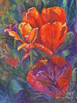 Tulips in winter by Marieve Ortiz