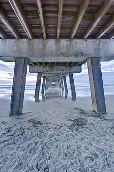Usa Ga Tybee Island Tybee Pier At Dawn by Rob Tilley