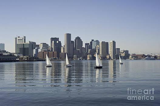 View of Boston Skyline from Boston Harbor by Darwin Lopez