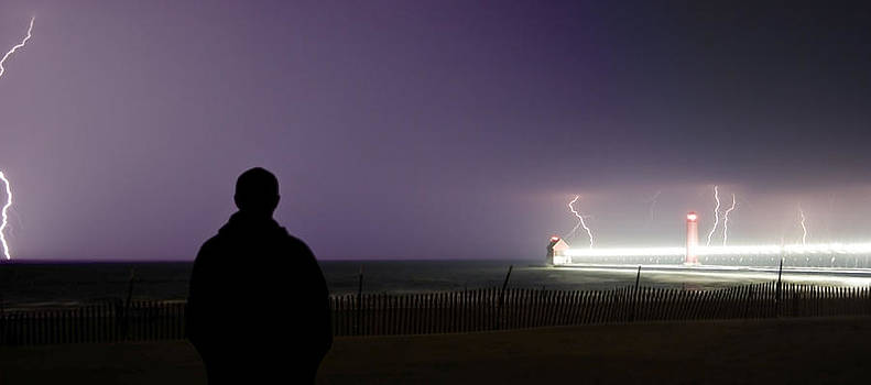 Watching a Lightning Storm by Jeramie Curtice
