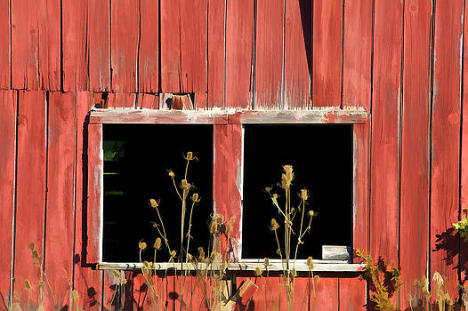 David Letts - Weathered Red Barn Window of New Jersey