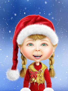 Whimsical Christmas Elf by Bill Fleming