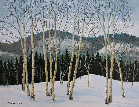 Richard De Wolfe - Winter Poplars