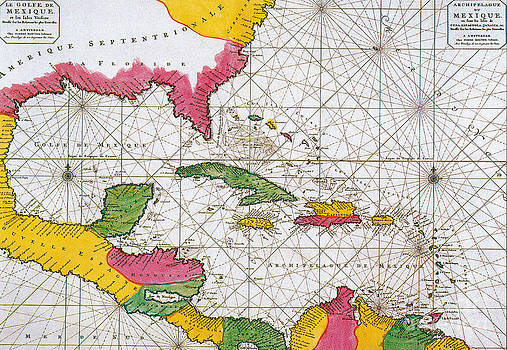 Science Source - 1708 Map Of The Spanish Main