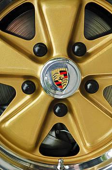 Jill Reger - 1974 Porsche 911 Carrera Coupe Wheel Emblem