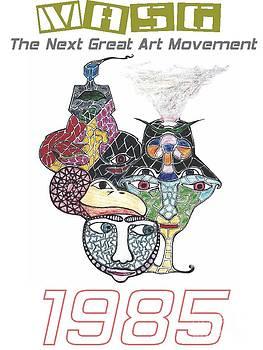 1985 Masg Art by Upside Down Artist L R Emerson II by L R Emerson II