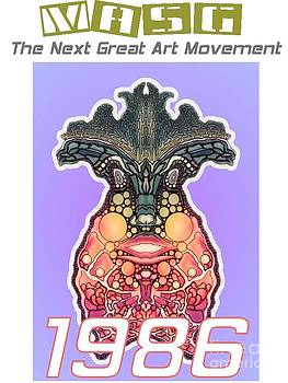 1986 Masg Art Collector's POster by Upside Down Artist L R Emerson II by L R Emerson II