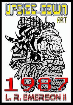 1987 Upside-Down Art by Masg Artist L R Emerson II by L R Emerson II