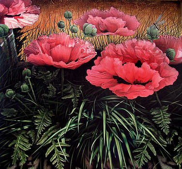 1st Place - Botanicals Art Exhibition - Poppies by K Dawne Holmes