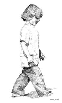 Boy on Beach by Marla Saville