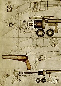 Science Source - Colt Pistol Us Patent Diagram
