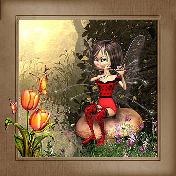 Fairy playing the flute by John Junek