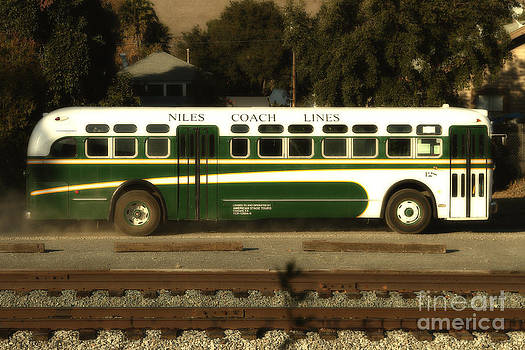 Wingsdomain Art and Photography - Historic Niles District in California Near Fremont . Niles Coach Line Bus . 7D10803