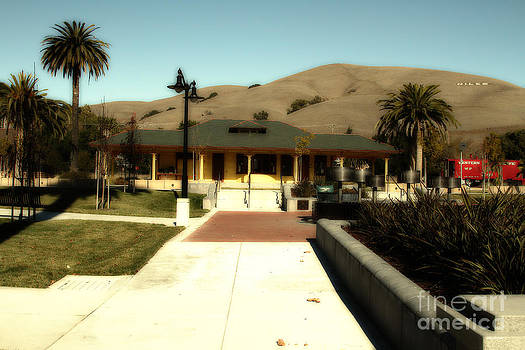 Wingsdomain Art and Photography - Historic Niles District in California Near Fremont . Niles Depot Museum and Niles Town Plaza.7D10697