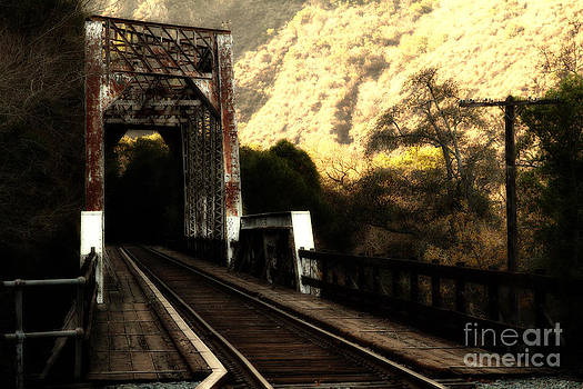 Wingsdomain Art and Photography - Old Railroad Bridge at Near Historic Niles District in California . 7D10757