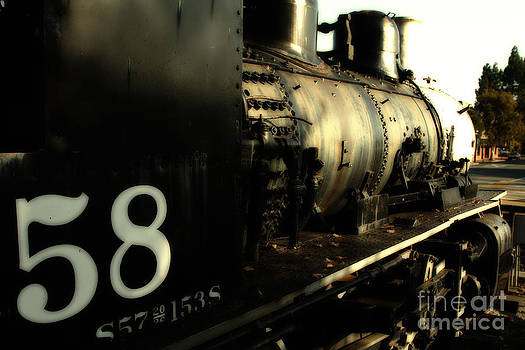 Wingsdomain Art and Photography - Old Steam Locomotive Engine 1258 . 7D10467