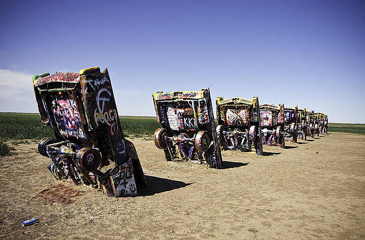 Rt 66 Cadillac Ranch by Paul Plaine