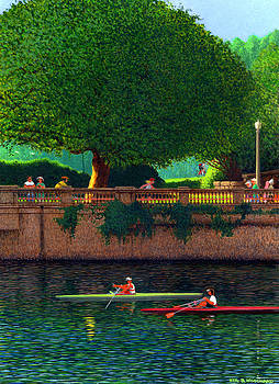 Scullers at Coal Harbour by Neil Woodward