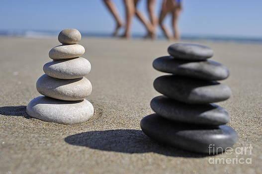 Sami Sarkis - Stack of pebbles on beach