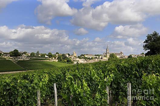 BERNARD JAUBERT - Village and vineyard of Saint-Emilion. Gironde. France