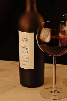 Wine glasses. by David Campione