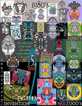 25th Anniversary Collector's Poster by Upside Down Artist and Inventor L R Emerson II by L R Emerson II
