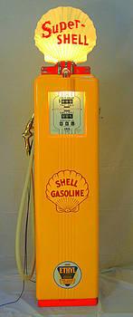 Antique gas pump by David Campione
