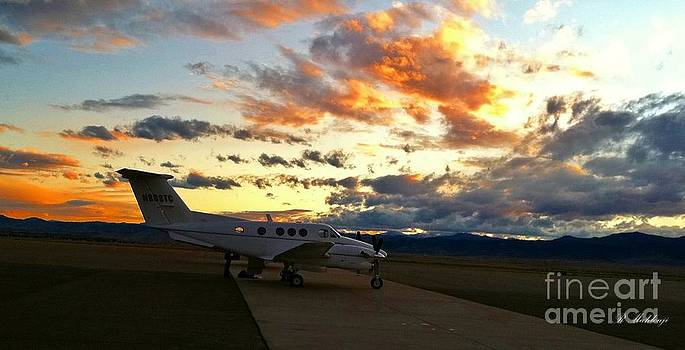 Beautiful Sunset At Denver Air by Reza Mahlouji
