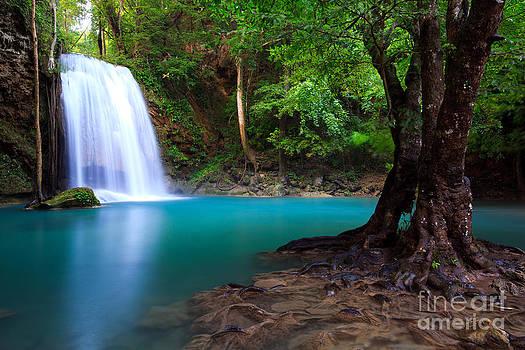 Erawan Waterfall in Thailand by Noppakun Wiropart