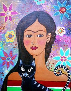 PRISTINE CARTERA TURKUS - FRIDA AND HER CAT