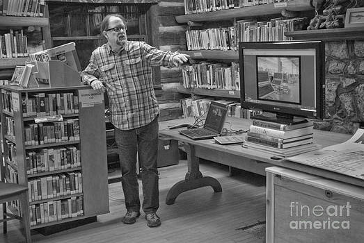 Log cabin library 7 by Jim Wright