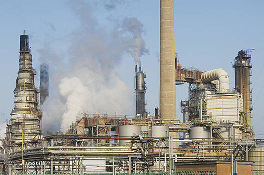Oil Refinery Buildings At Grangemouth by Iain  Sarjeant