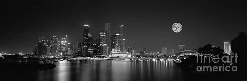Singapore night lights by Sergey Korotkov