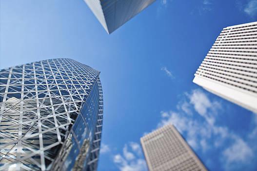 Skyscrapers In Tokyos Shinjuku by Eddy Joaquim