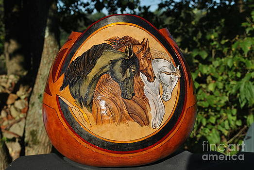 3Horses Gourd by David Syers