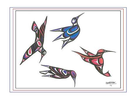 4 Hummingbirds by Speakthunder Berry