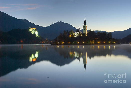 Morning at lake Bled by Tomaz Kunst