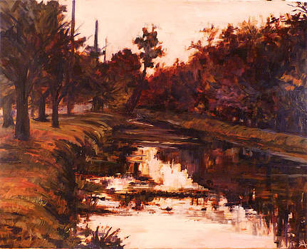 6 PM on the Canal by Azhir Fine Art