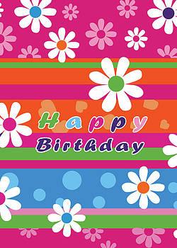 Flowers Happy Birthday by Baker  Alhashki