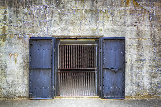 A Bunker With Steel Doors On A Disused by Douglas Orton
