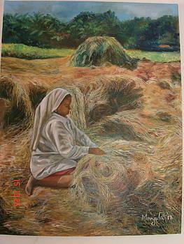 A farm scene by Manjula Prabhakaran Dubey