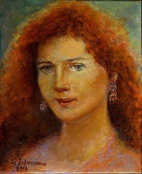 A girl with a red hair by Sylva Zalmanson