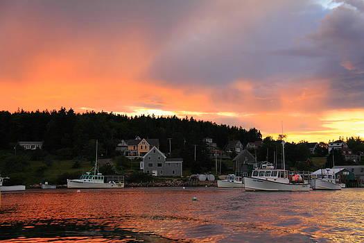 A Maine Coast Sunset by Doug Mills