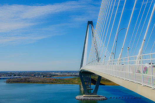 A Ravenel Bridge Charleston SC by Megan Pearson