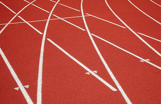 A School Sports Track With Lanes by Nathan Griffith