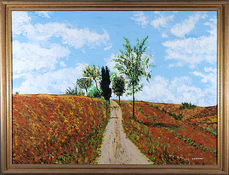 A walk in the mid day sun by Carl Schumann