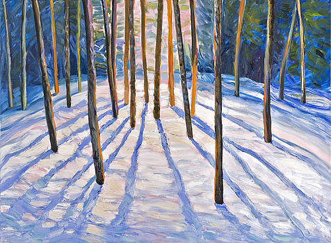 A winter day in the woods by Jack Tzekov