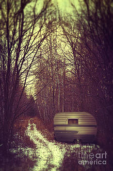 Sandra Cunningham - Abandoned trailer in the woods