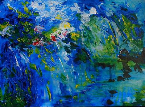 Abstract Blue by Larry Ney  II