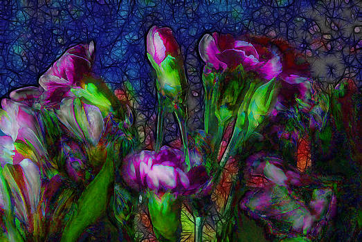 Cindy Boyd - Abstract Pink Carnation Stems